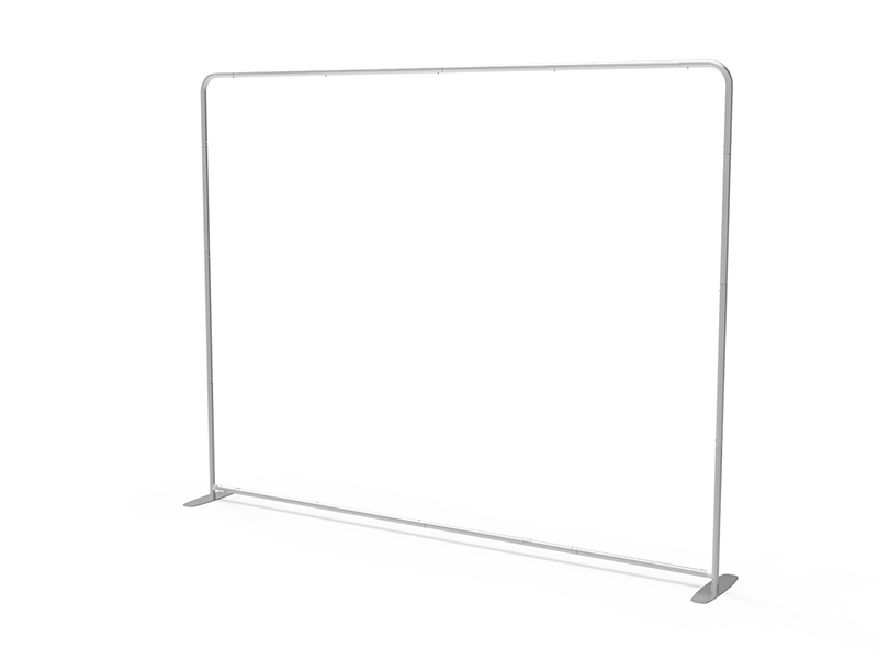 Display Rabbit - ELASTO Tube - 10'x8' - Straight - Hardware