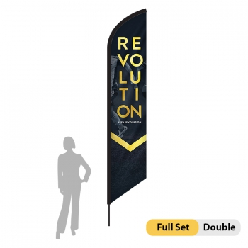 DisplayRabbit - 14ft Flag – Feather Angled Large Double