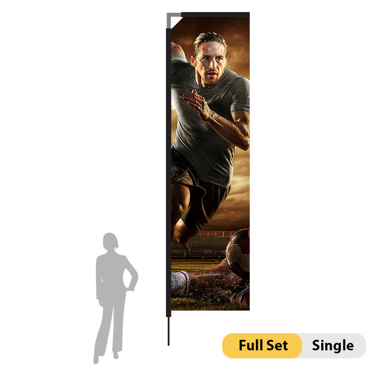 DisplayRabbit - 15ft Flag – Rectangle Large Single
