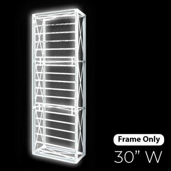 DisplayRabbit - The Vivid – Backlit – 30″x 90″ (2.5ft W) – Frame Only