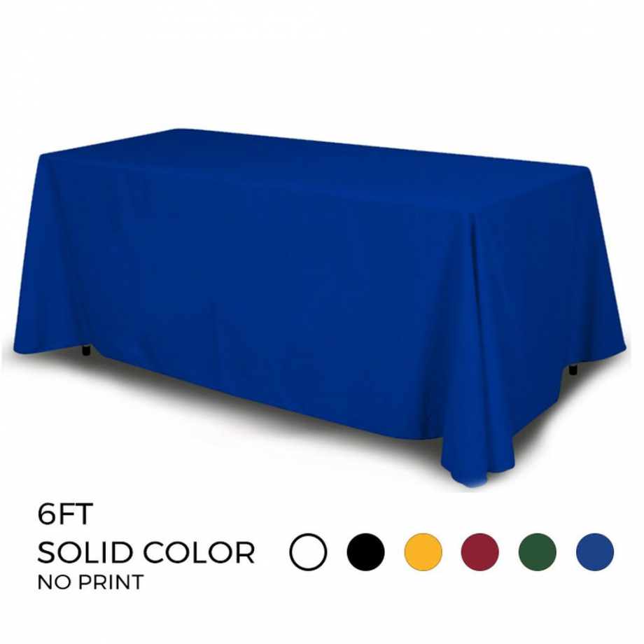 DisplayRabbit - Table Throw 6ft – 4 Sided (Solid Color)