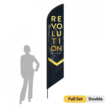 DisplayRabbit - 9ft Flag – Feather Angled Small Double